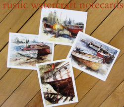 Rustic Watercraft Notecards