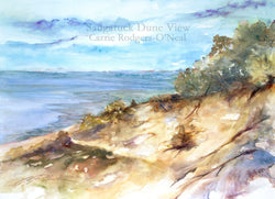 Saugatuck Dune View Watercolor Painting