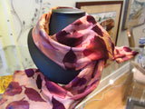 Scarf, Ice Dyed Silk Devore'  8 x 54