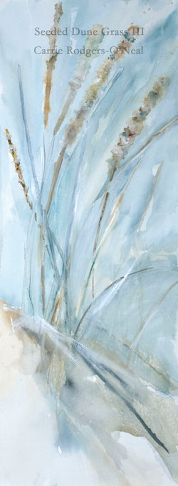 Seeded Dune Grass III Watercolor Painting