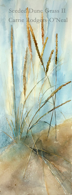 Seeded Dune Grass II Watercolor Painting