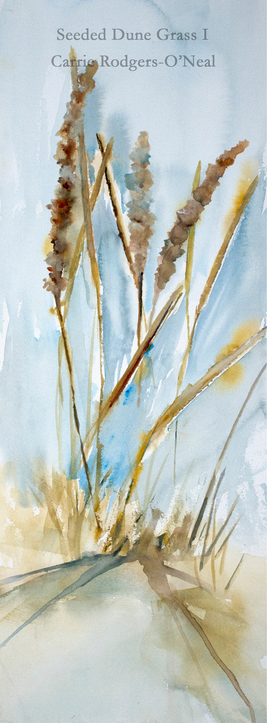 Seeded Dune Grass I Watercolor Painting