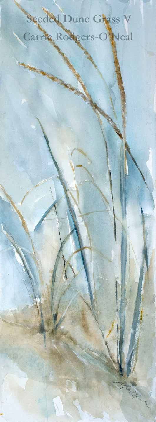 Seeded Dune Grass V Watercolor Painting