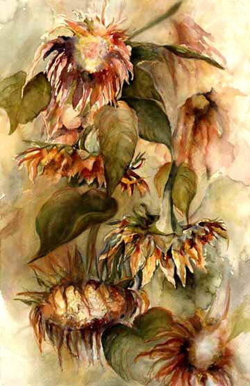 Summer's End Sunflowers Giclee