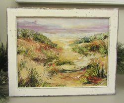 Sunset Through The Dune Giclee 'White Washed' Framing