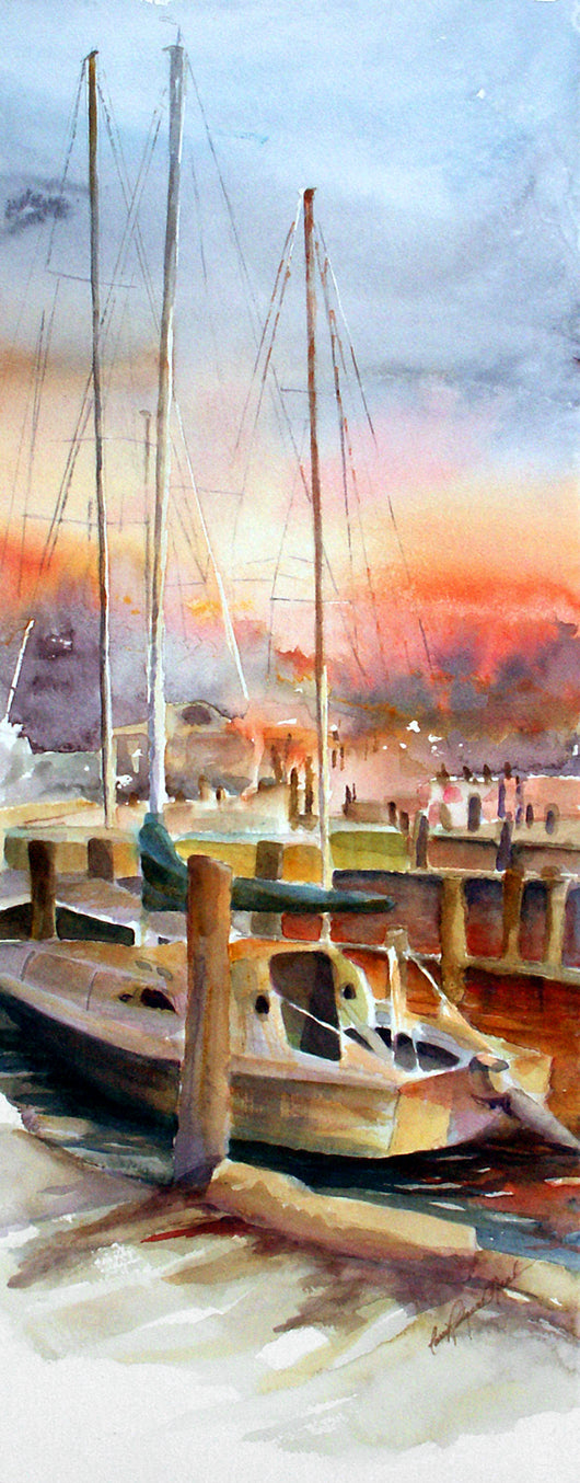Sunset At Eldeans Giclee