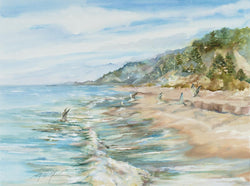 Surf And Gulls Giclee