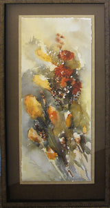 Wind Blown Cat Tails Giclee Framed 'Classic Float II'