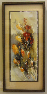 Wind Blown Cat Tails Giclee Framed 'Classic Float'