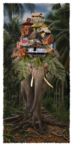 Elephant Town Giclee