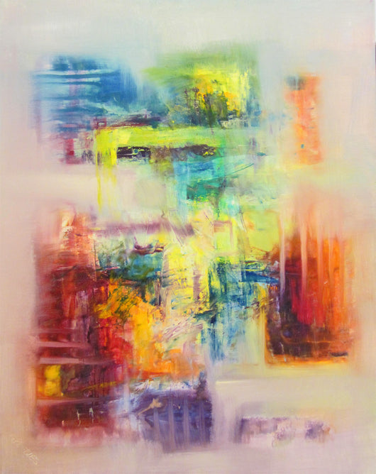 Abstract Color Play Oil Painting