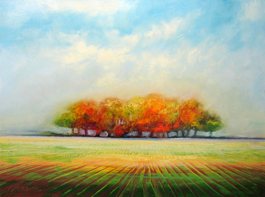 Autumn Fields Oil Painting