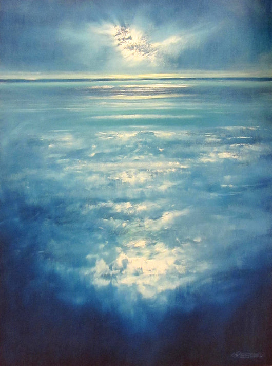 Blue Surf I Oil Painting