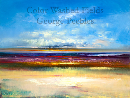 Color Washed Fields Oil Painting