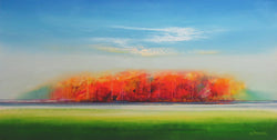 Firey Trees Oil Painting