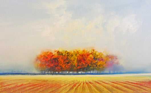 Frolicking Fields Oil Painting