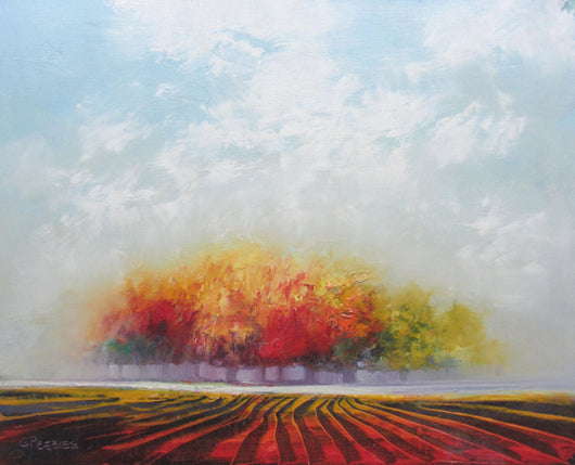 Glowing Fields Oil Painting