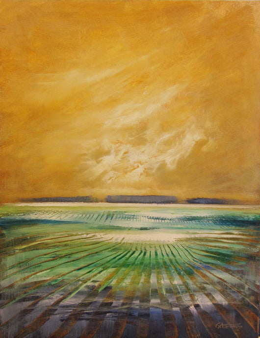 Golden Skies and Blue Fields Giclee