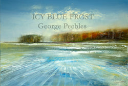 Icy Blue Frost Oil Painting