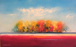 Native Treeline Oil Painting