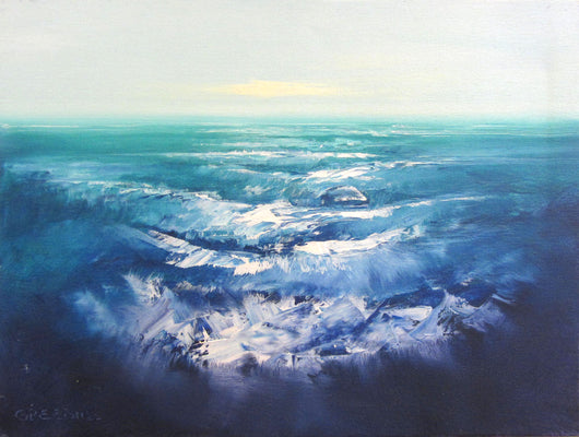 Rythmic Waves Oil Painting