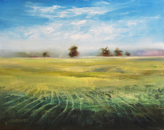 Spring Field Oil Painting