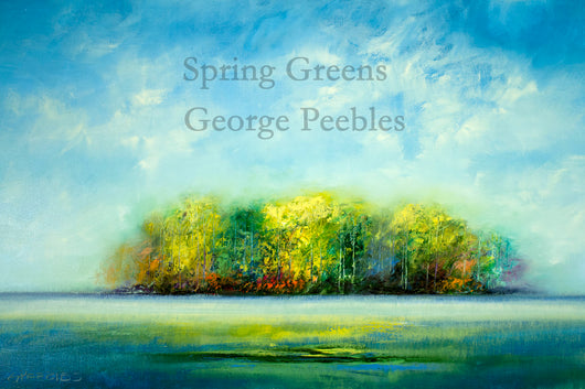 Spring Greens Oil Painting