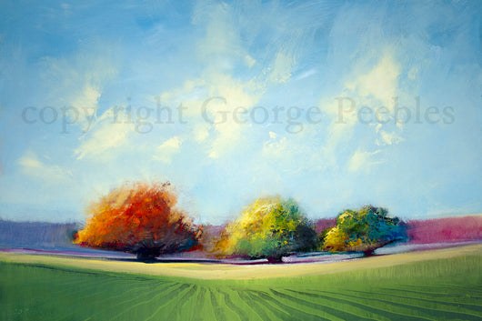 Tree Trio Oil Painting