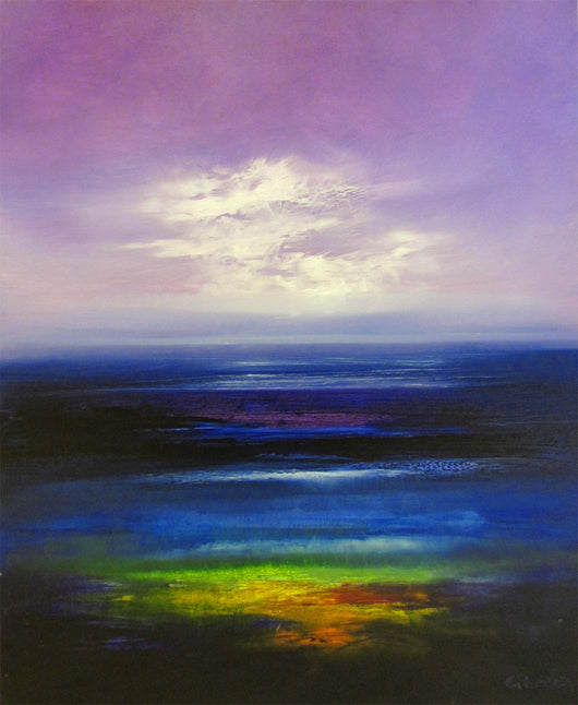 Twilight in Purples Oil Painting