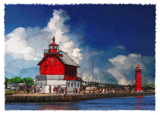 Grand Haven Lighthouse Giclee