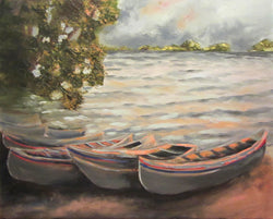 Lake Hamlin 1 Oil Painting
