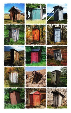 Fifteen Outhouses Giclee