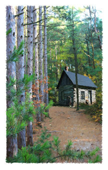 Cabin In The Woods Giclee