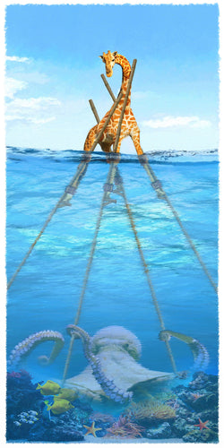 The Giraffe and the Octopus Giclee
