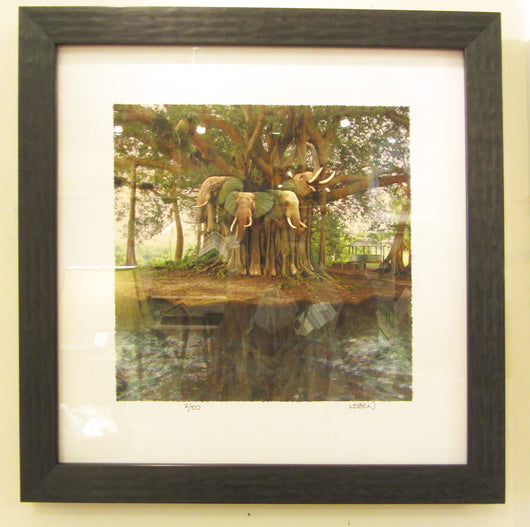 Island of Lost Elephants Framed Giclee