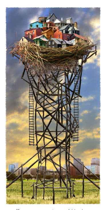 Nest Tower Giclee