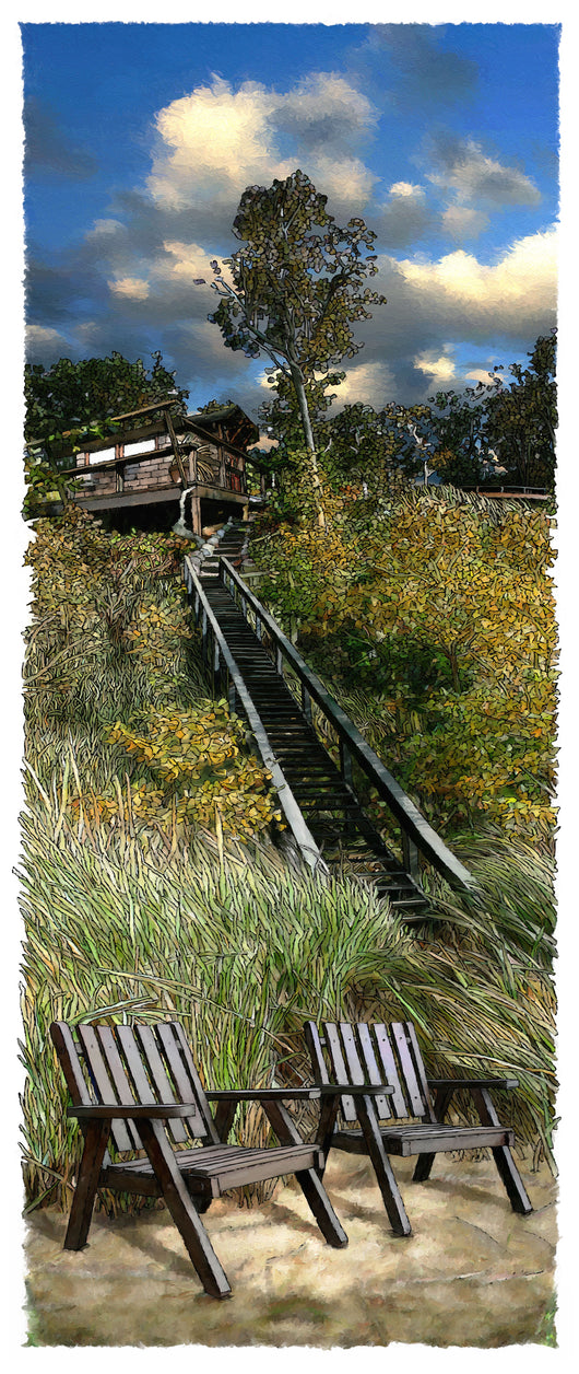 Summer Stairs Giclee