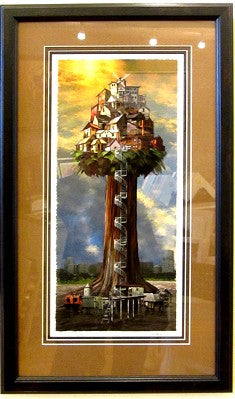 Tall Town Giclee Framed