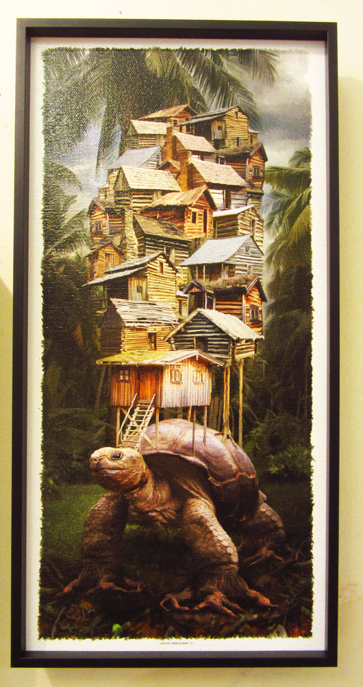 Turtle Town Framed Giclee
