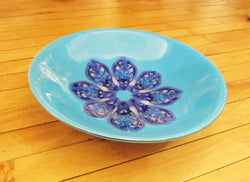 Blue Kaleidoscope Glass Bowl