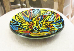 Fused Glass Retro Design Bowl