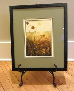 Dawn On Winter Weeds Watercolor Painting Framed