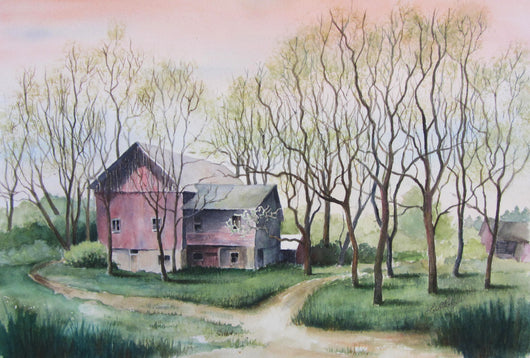 The Sassafras Grove Watercolor Painting