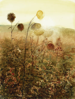 Dawn On Winter Weeds Giclee