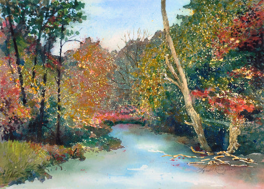 Fall Comes To Pigeon River Giclee