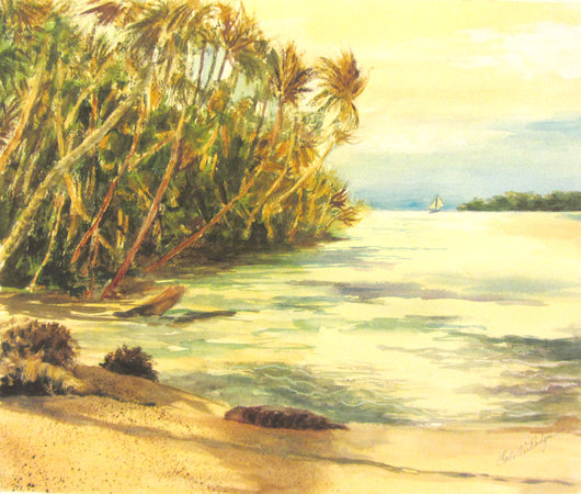 Treasure Cay Watercolor Painting
