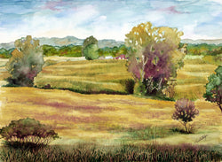 Ribboned Fields Giclee