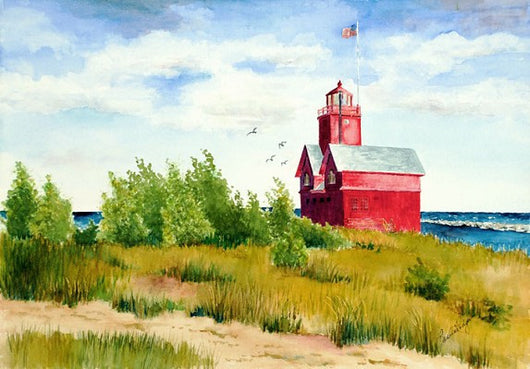 Windy Day At Big Red Giclee