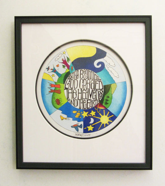 In The Beginning Framed Giclee