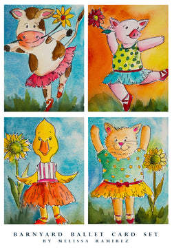 Barnyard Ballet Notecards